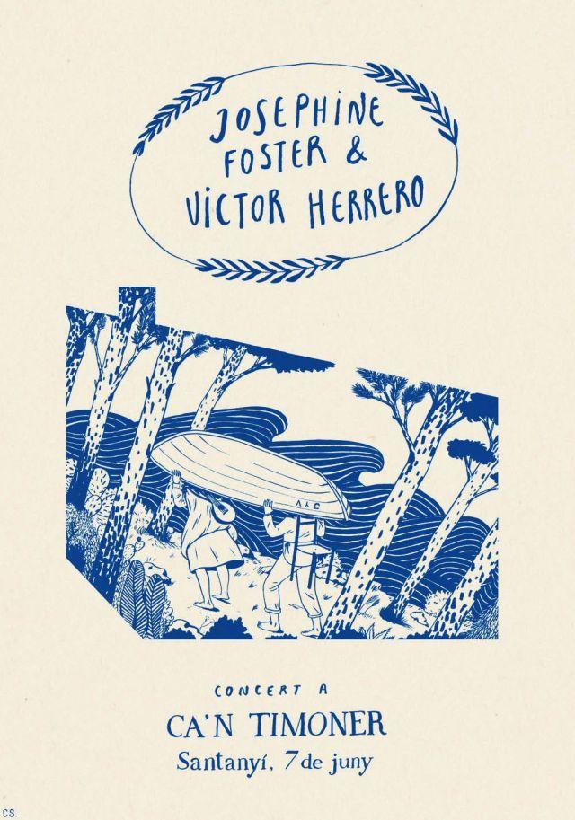 Carmen Segovia: Cartel del concierto de Josephine Foster