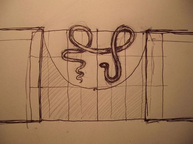 Ferran Aguiló:dibuix de sa serp